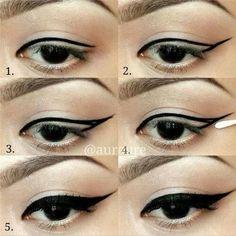 eye liner makeup step by step