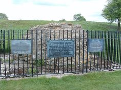 Masonary Remains of Fotheringhay Castle, site of the execution of Mary, Queen of Scots. Northamptonshire, England