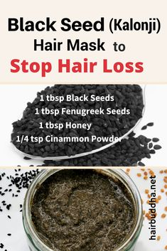 Black Seed (Kalonji) Hair Mask to Regrow Lost Hair – hair buddha – Diy Hairstyles Hair Remedies For Growth, Hair Growth Tips, Hair Loss Remedies, Hair Care Tips, Hair Tips, Stop Hair Loss, Prevent Hair Loss, Hair Loss Women, Black Seed