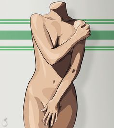 Manu. Elle Project. #digital #graphics #digital_art #model #girl #sexy #nude #elle #body #illustration #damascus #syria