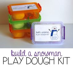 Build A Snowman Play Dough Kits