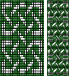 Celtic Cross Stitch, Cross Stitch Borders, Cross Stitch Embroidery, Cross Stitch Patterns, Cross Stitches, Bead Loom Patterns, Peyote Patterns, Weaving Patterns, Knitting Charts