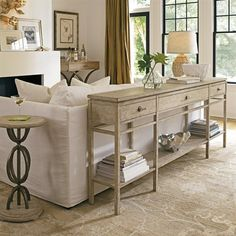 stanley furniture 062 coastal living palisades sofa table - Sofa Table Decor