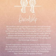 Affirmation - Friendship