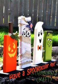 It was craft night last night with my neighborhood besties. We found a 2x4 Halloween decor tutorial on Pinterest from Keep It Simple . ...