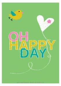 oh happy day free printable poster