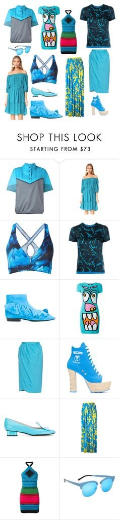 """New Fashion Things"" by donna-wang1 ❤ liked on Polyvore featuring NIKE, Ella Moss, Bodyism, Versus, J.W. Anderson, Jeremy Scott, Emilio De La Morena, Moschino, Rayne and Emanuel Ungaro"