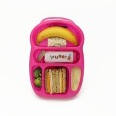 Goodbyn Lunchbox Sandwich Box with Compartments Large Raspberry