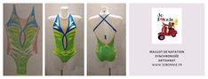 Jo.Bonnie fabrique vos maillots de natation synchronisée sur-mesures à Perpignan ! Possibilité de commande à distances.   Justaucorps, bodies, tenues de spectacles.