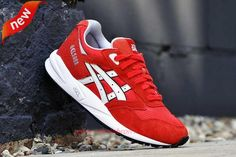 """H462N-2301 """"Valentines Day"""" Fiery Red/White Asics Gel Saga Mens-Womens For Cheap"""