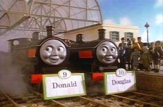 Gotta give a shout out to twins Donald and Douglas from the Thomas the Train series :) Disney Cars Party, Car Party, List Of Characters, Creepy Images, Creepy Guy, Disney Nursery, Happy Tree Friends, Jungle Party, Baby Mouse