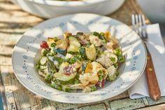 Zöldséges-sonkás tészta Sprouts, Potato Salad, Zucchini, Ale, Potatoes, Vegetables, Ethnic Recipes, Oven, Italia