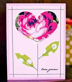 Cartão artesanal para o Dia das Mães