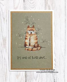 Phoebeez: One of those days.... July 7, On October 3rd, One Of Those Days, Cat Cards, Cute Images, I Card, Card Ideas, Projects, Cards