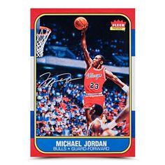 efacc26d1d5 Michael Jordan Autographed Fleer Rookie Blow Up