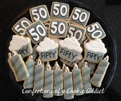 Fifty is Nifty! 50th Birthday Cookies