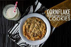 Cornflake Marshmallow Cookies // shutterbean (cornflake marshmallow treats)