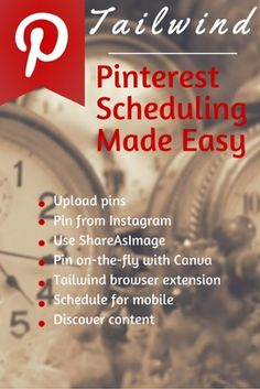 Tailwind makes scheduling on Pinterest so easy with 7 options for scheduling! Learn about all of them here. http://www.overgovideo.com/blog/tailwind-pinterest-made-easy @tailwind by @alisammeredith for @overgostudio
