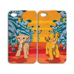 Disney Lion King Simba Nala Cute Couple Best Friend iPhone Case Phone Cover