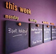 Mini Chalkboards, Week Schedule