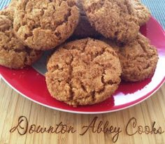 No time for making rolled gingerbread cookies?  Make gingernuts,aka ginger snaps the Downton way.