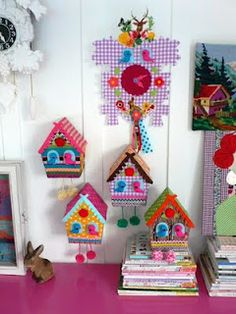 teeny crafted cuckoo clock softies