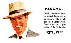 1950s Straw Hat Adverts
