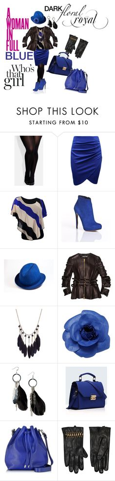 """""""Dark Floral Royal"""" by pennylanefashion ❤ liked on Polyvore featuring City Chic, Nicholas Kirkwood, Tom Ford, Chanel, MANGO, KAROLINA, Relaxfeel, Proenza Schouler and Kurt Geiger"""