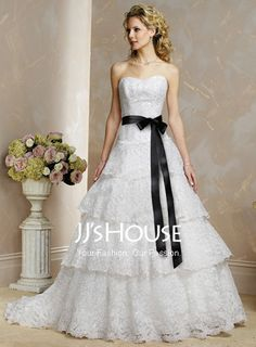 When we renew our vows and have the wedding ceremony we should have had.... I want a dress like this! :)