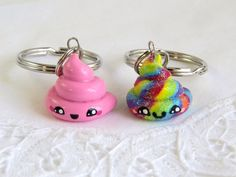 A personal favorite from my Etsy shop https://www.etsy.com/listing/232941648/polymer-clay-poop-charms-set-of-2-bff