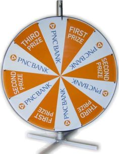 """48"""" Custom Prize Wheel by PromoQuip, Inc.  You can't beat their sharp graphics and durable, built-to-last construction."""