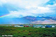 Camps during the jeep safari in Ladakh.
