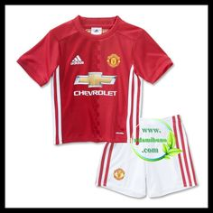 They'll look like pros in this soccer kit for kids. Modeled after the one Red Devils players wear at Old Trafford, it's made with breathable climalite® fabric to keep them dry. The jersey and shorts both show off an embroidered Manchester United badge. Youth Soccer, Kids Soccer, Manchester United Badge, Kids Football Shirts, Soccer Skills, Soccer Tips, Soccer Uniforms, Soccer Shorts, Adidas Kids