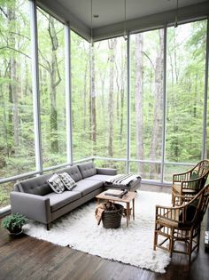 Beautiful room to sit in and watch the rain. [736  984736  984]