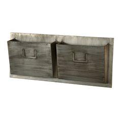 Linon Industrial Wall Mounted Mailbox & Reviews   Wayfair