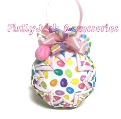 Ester egg handmade quilted decoration ornament ball by PinKyJubb, $16.00