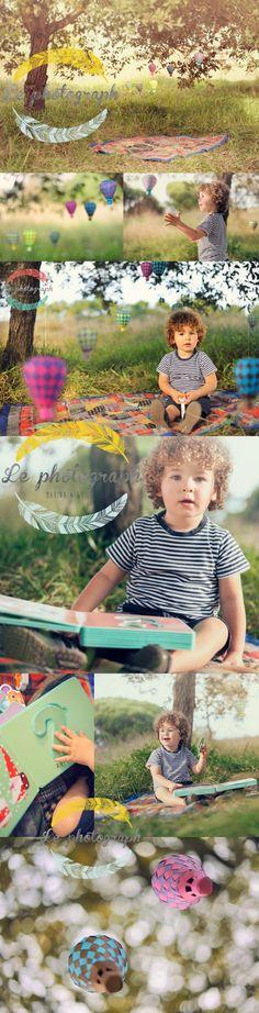 sesion de fotos creativa de niños en bilbao