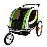 Clevr Green Collapsible 2 Seats Double Bicycle Trailer Baby Bike Jogger/Stroller Jogging Running Kids Cart Bike Baby Jogger Stroller, Baby Strollers, Child Bike Seat, Bike Hitch, Best Cycle, Motorcycle Battery, Baby Bike, Double Strollers, Bike Accessories