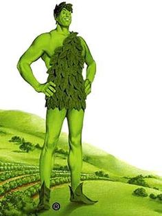 The Green Giant was created in 1925 after the introduction of unusually large peas in the company's product line. His companion, Sprout, didn't make his first appearance until 1973. Ho, Ho, Ho Green Giant