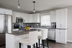 L-Shaped Kitchen with Island                                                                                                                                                                                 More