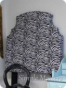 Twin Zebra Headboard