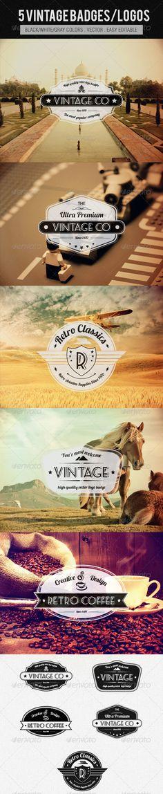 Vintage Logos/Badges - GraphicRiver Item for Sale