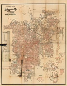This extremely rare, hard-copy map of Los Angeles is more than just a confusing jumble of numbers; it shows off the city's townships and their precincts (or voting districts), and it also delineates districts like county supervisor, state assembly, United States Senate, and United State Congress.