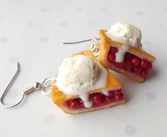 Cherry pie ala mode earrings