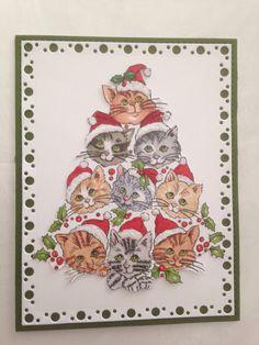 Christmas cat tree copics coloured