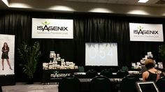 Getting ready to start the Isagenix Super Saturday in Las Vegas.