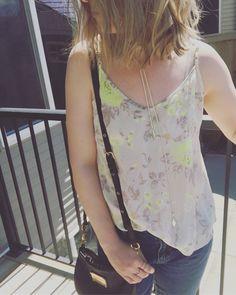 Aritzia Talula tank, Zara boyfriend jeans, Marc Jacob classic Q percy