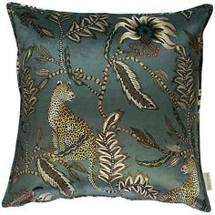 Ardmore cushion in Monkey Bean Ash velvet. Double-sided print on velvet. Printed Cushions, Scatter Cushions, Decorative Throw Pillows, Checked Cushions, Owl Pillows, Animal Cushions, Embroidered Cushions, Burlap Pillows, Colorful Pillows