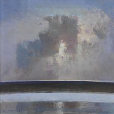 Paintings Past and Present from the New English Art Club, Studio International Sky Painting, Seascape Paintings, Landscape Paintings, Oil Paintings, Nocturne, Cardboard Art, Paintings I Love, Art Club, Abstract Landscape