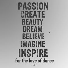 All for the love of dance.